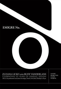 poster for Emigre No.70 | Designer: Agnieszka Mielczarek-Orzylowski
