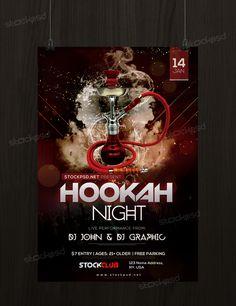 Hookah Night Free Flyer Template - http://freepsdflyer.com/hookah ...