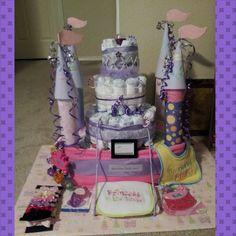 Diaper castle cake!!!!
