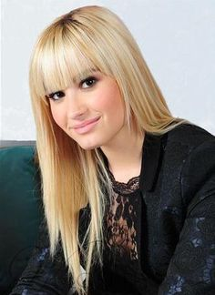 #WigsBuy - #WigsBuy Best Demi Lovato Hairstyle Long Smooth Straight Wig Cute 100% Human Hair 18 Inches - AdoreWe.com