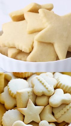 Easy Baking Recipes, Cookie Recipes, Butter Cookies Recipes, Dessert Recipes, Best Butter Cookie Recipe Ever, Butter Cookies Christmas, Tiny Food, Beignets, Just Desserts