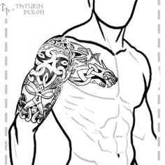 Tattoos And Body Art celtic tattoos Viking Tribal Tattoos, Viking Tattoo Sleeve, Wolf Tattoo Sleeve, Armor Tattoo, Norse Tattoo, Viking Tattoo Design, Celtic Tattoos, Sleeve Tattoos, Celtic Wolf Tattoo