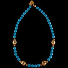 Afganistan Greco Bactrian 24k gold Turquoise Necklace