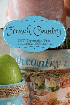 How to make your own French Country pots. Techniques and even a short video I made at the end of how to paint on glass with chalky paint.