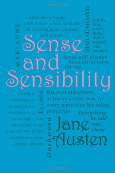 Sense and Sensibility (Word Cloud Classics): Jane Austen: book cover