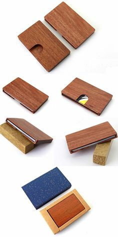 Customize Logo/Name Engrave Wooden Business Card Case,Rosewood