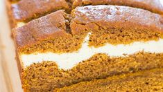 Ingredients Bread: cups pure pumpkin puree ½ cup unsweetened applesauce 1 egg + 3 egg whites box Betty Crocker® Super Moist Spice Cake Mix (dry mix only) 3 tablespoons dark brown sugar 1 teaspoon baking soda ½ teaspoon cinnamon ½ teaspoon Pumpkin Cream Cheese Bread, Best Pumpkin Bread Recipe, Healthy Pumpkin Bread, Pumpkin Recipes, Spice Cake Mix, Ww Desserts, Healthy Desserts, Unsweetened Applesauce, Ww Recipes
