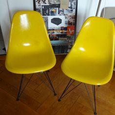 von freigeistdesign auf Etsy Hermann Miller, Eames, Etsy, Chair, Yellow, Furniture, Vintage, Home Decor, Free Spirit