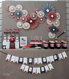 Some great ideas in this Magicians party. I like the wall decorations with the added stars!