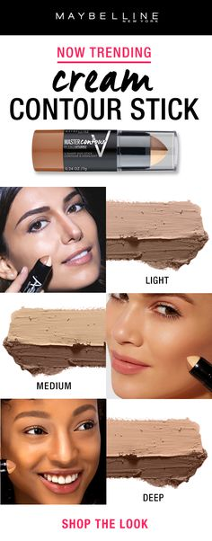 Cream contour sticks are trending right now and the fan favorite drugstore contour stick is the Maybelline Master Contour Duo Stick. This 2-in-1 stick creates the illusion of structure and lift in two easy steps with one side for contour and one side for highlight.