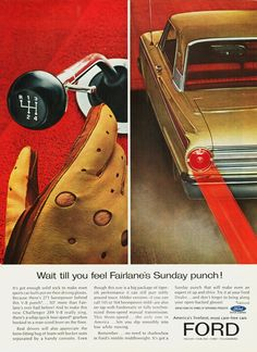 Ford car poster (1963)