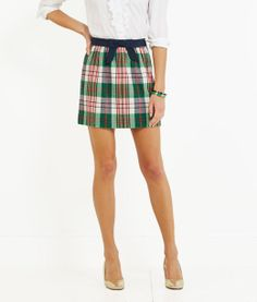 Women's Skirts: Tartan Bow Skirt for Women - Vineyard Vines