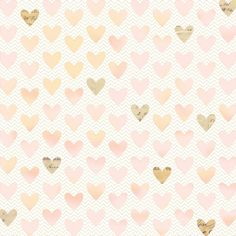 Hearts over Chevron design by me, for Cosmo Cricket
