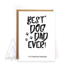 Fathers day card from dog pet dad fathers day from dog by artRuss