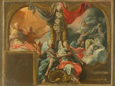 A Concert of Angels: study for a wall decoration Manchester Art, Religious Art, Art Gallery, Angels, Wall Decor, Study, Christian, Concert, Decoration