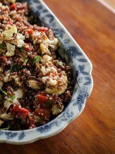 Caramelized Cauliflower, Roasted Red Pepper and Quinoa Salad
