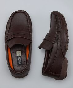 Take a look at this Brown Loafers by Preppy Picks: Boys' Apparel on #zulily today!