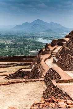 View from top of Sigiriya ~ central Matale District of the Central Province, Sri Lanka: