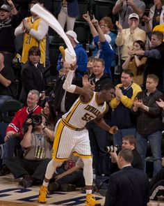 Roy Hibbert in the Pacers 97-92 victory over the Bulls on March 3, 2013.