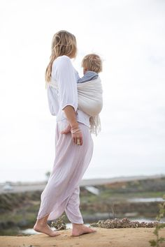 Linen and cotton blend ring sling