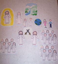 Pre-Existence flannel board story