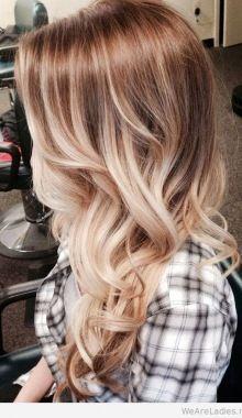 Bohemian blonde ombre hair ash golden