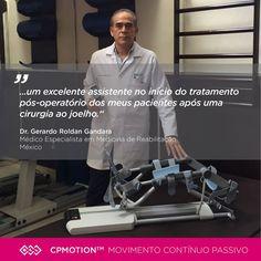 """""""O dispositivo CPMotion™ provou ser um excelente assistente no início do tratamento pós-operatório dos meus pacientes após uma cirurgia ao joelho. As melhorias aparecem rapidamente, logo nas primeiras semanas do processo de reabilitação. É fácil de instalar e fácil de operar, o CPMotion™ é muito confortável e seguro, mesmo para pacientes com um baixo limiar de dor, ajudando a acelerar a recuperação e funcionalidade."""" http://www.btlportugal.pt/produtos-fisioterapia-cpmotion #BTL…"""