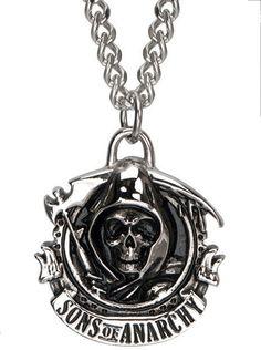 "SOA ""Grim Reaper"" Necklace by Inox Jewelry #InkedShop #InkedMag #Grim #Reaper #Necklace"