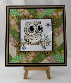 Tinyrose's Craft Room: Cute Owl with a Snippets Background Little Owl, Cheer You Up, Cute Owl, Faber Castell, Digital Stamps, Place Cards, About Me Blog, Crafty, Lettering
