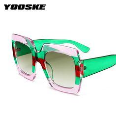 937cf2c1d999 YOOSKE Oversized Square Sunglasses Women Brand Designer Clear Lenses Sun Glasses  Female Three Colors Big Frame Party Eye Glasses