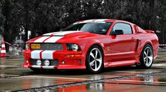 Maarten Memorial 2010 A modern reïncarnation of the notorious 'Eleanor'. Quite a nice modification of the Ford Mustang, in my opinion. 2007 Ford Mustang, Red Mustang, Mustang Cars, Ford Gt, Shelby Mustang, Shelby Gt, Ford Mustangs, Ferrari, Ford Lincoln Mercury