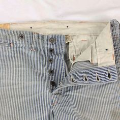 RRL Vintage Hickory Stripe Work Pants