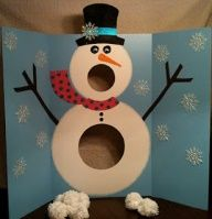 Snowman Game...here it is. The game I was thinking would be awesome for our daycare Christmas party.