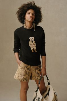 The rugged appeal of utilitywear is reimagined for a refined—modern aesthetic. Our beloved Polo Bear completes the design. Discover the Safari Polo Bear Cashmere Sweater and the Chesley Embossed Short. Ralph Lauren Collection, Cashmere Sweaters, Baby Kids, Glamour, Elegant, Fabric, Clothes, Safari, Polo