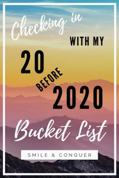 Checking in with my 20 before 2020 bucket list to see where I'm at with my goals and what I still need to accomplish by the end of the year. Ways To Save Money, Money Saving Tips, How To Make Money, Managing Money, 30 Day Yoga, Early Retirement, Budgeting Money, Say Hi, Finance Tips