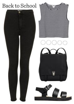 """""""Untitled #1329"""" by susannem ❤ liked on Polyvore featuring Topshop, Monki, Proenza Schouler and Luv Aj"""