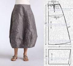 Cocoon skirt.\u000a#простыевыкройки #простыевещи of #шитье #юбка of #бохо #выкройка