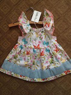 Matilda Jane Wonderful Parade All A-Flutter Peasant Top Size 4, NWTIB