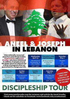 Discipleship Tour in  Lebanon - April 29th - May 9th 2015