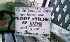 Hey, I found this really awesome Etsy listing at https://www.etsy.com/listing/208835859/wedding-sign-memory-sign-heaven-sign