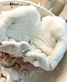 DIY Life Cast Concrete Hands - Made by Barb - Alginate Life cast plaster to silicone concrete mold making tutorial