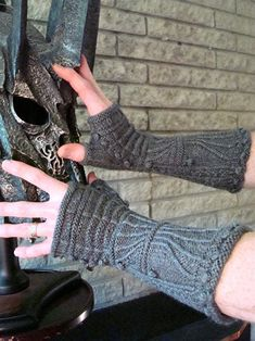 Gillaspie Gothic Gauntlets Knitting Pattern Medieval Fingerless Gloves. $6.00, via Etsy.