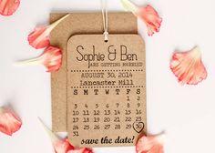 kraft calendar save the date by norma&dorothy   notonthehighstreet.com