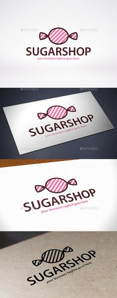 Candy Shop Logo Design Template Vector #logotype Download it here: http://graphicriver.net/item/candy-shop-logo-template/9644982?s_rank=723?ref=nexion