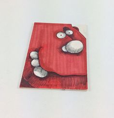 Red Monster Original ACEO Drawing by Aaron Butcher on Etsy, $5.00
