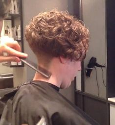 curly with buzzed nape, it would kill me to cut my hair this short again