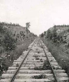 Railroad cut at Gettysburg in which Frank Wallar of the 6th Wisconsin captured the flag of the 2nd MS, an action for which he will win the Medal of Honor.