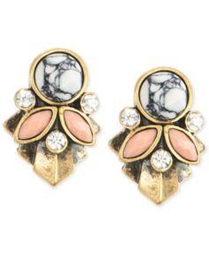 Anne Klein Gold-Tone Cluster Clip-On Earrings   macys.com