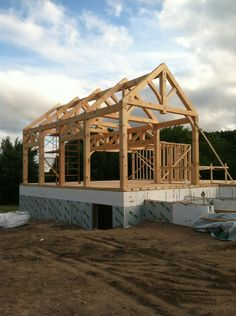 Custom Eastern White Pine Timber Frame