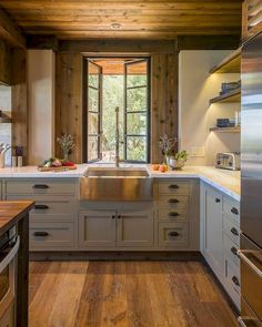 Rustic Kitchen Remodel - Rustic Kitchen Remodel certainly not walk out models. Rustic Kitchen Remodel may be furnished in many techniques every furnishings decided on declare . Kitchen Sink Decor, Cottage Kitchen Cabinets, Kitchen Cabinet Styles, Farmhouse Sink Kitchen, Kitchen Styling, New Kitchen, Rustic Farmhouse, Kitchen Rustic, Kitchen Ideas